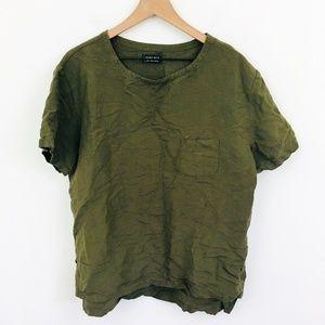 Zara Man Linen Short Sleeve Shirt